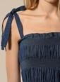 Agenda Askılı Denim Elbise Lacivert
